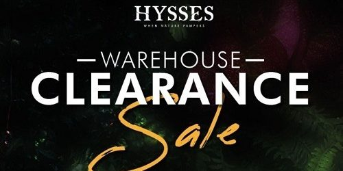 Hysses Singapore Warehouse Clearance Sale Up to 70% Off Promotion 6-8 Sep 2020
