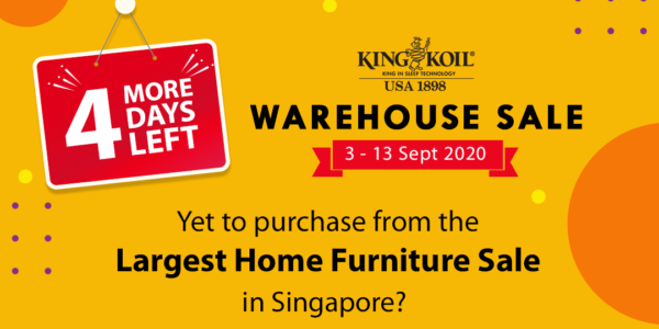 King Koil Singapore Warehouse Sale Up To 70% Off Promotion 3-13 Sep 2020