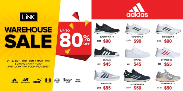 LINK WAREHOUSE SALE Up to 80% Off Promotion 24-27 Sep 2020