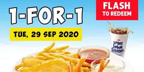 Long John Silver's Singapore 1-for-1 Fish, Chicken & 3pc Shrimps Meal Promotion on 29 Sep 2020