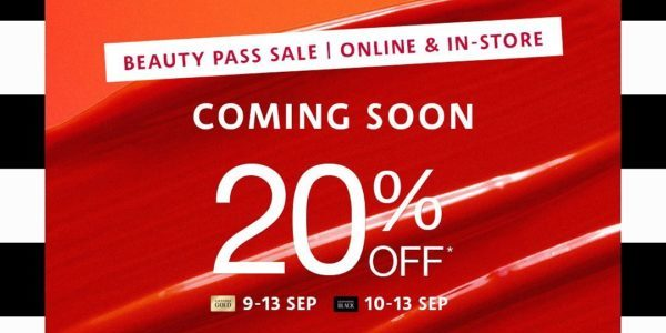 SEPHORA Singapore Beauty Pass Sale Up To 20% Off Promotion 9-13 Sep 2020