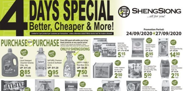 Sheng Siong Singapore 4 Days Special Promotion 24-27 Sep 2020