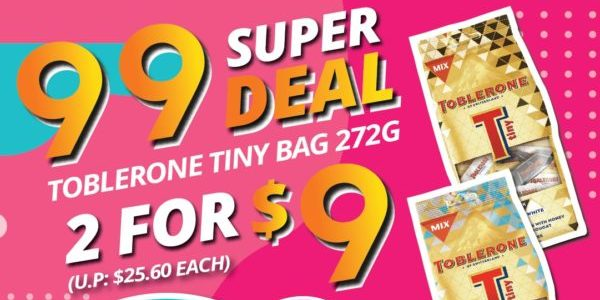 The Cocoa Trees Singapore 9.9 Super Deal Toblerone Tiny Bag 2 For $9 Promotion 1-9 Sep 2020