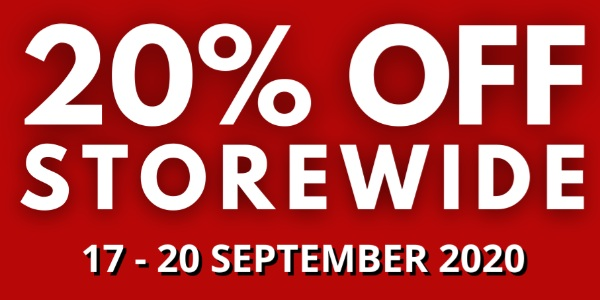 THE WALLET SHOP 20% STOREWIDE SALE – 17 TO 20 SEPTEMBER 2020