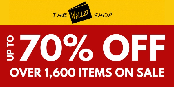THE WALLET SHOP – UP TO 70% OFF OVER 1,600 ITEMS ON SALE | UP TO 70% OFF ALL MOLESKINE
