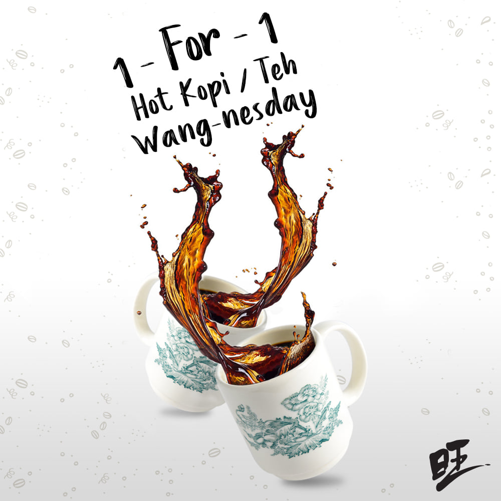 WangCafe Singapore Wang-nesday 1-for-1 Hot Kopi/Teh FB Deal Is Happening On 16 Sep 2020   Why Not Deals