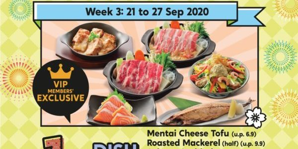 Watami Singapore 11th Anniversary Selected Dishes At $1.10 Week 3 Promotion 21-27 Sep 2020