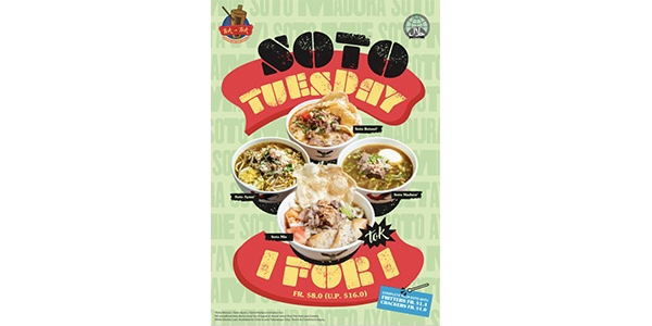 Tok Tok Indonesian Soup House 1-FOR-1 SOTO TUESDAY Promotion
