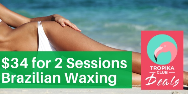 $34 for Brazilian Waxing By Queen Beauty (2 Session Package)
