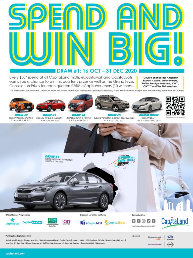 CapitaLand launches its largest consumer giveaway in Singapore with over S$580,000 worth of prizes i | Why Not Deals 1