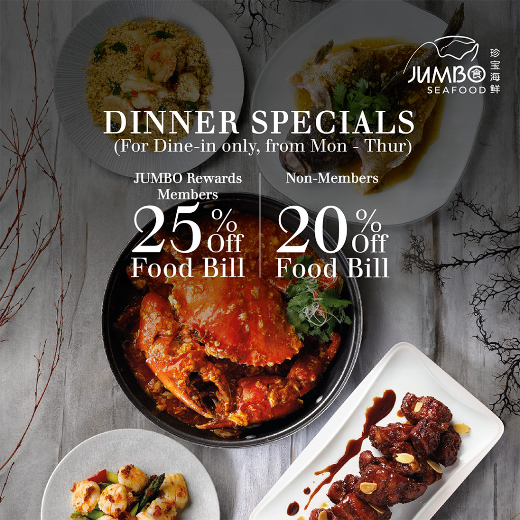 [Promotion] Enjoy up to 25% OFF Dine-in & Takeaway at JUMBO Seafood & Zui Teochew Cuisine | Why Not Deals