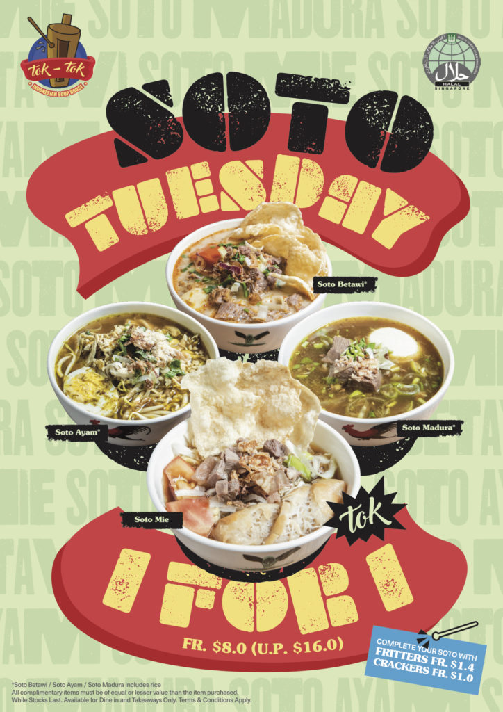 Tok Tok Indonesian Soup House 1-FOR-1 SOTO TUESDAY Promotion | Why Not Deals