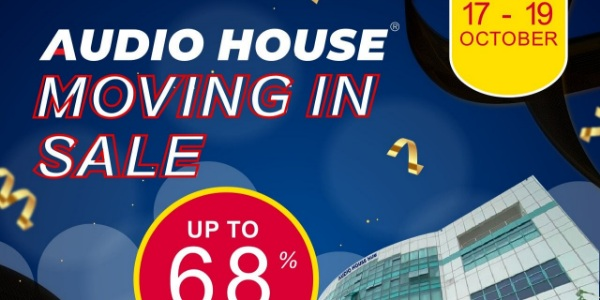 [Audio House 3-day Moving in Sale] Enjoy Up to 68% OFF for ALL Electronics At Their New Ubi Showroom