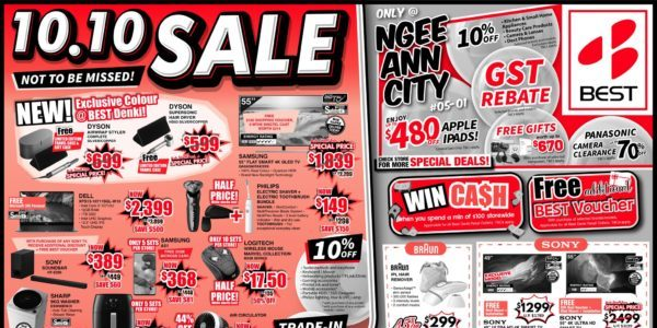 BEST Denki Singapore 10.10 SALE Not To Be Missed ends 18 Oct 2020