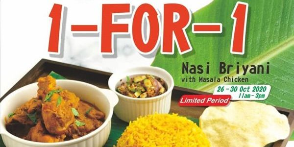 Casuarina Curry Singapore MacPherson Rd Outlet 1-for-1 Nasi Briyani Promotion 26-30 Oct 2020
