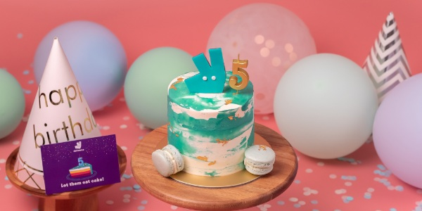 Celebrate Deliveroo's 5th birthday with a limited edition birthday cake!