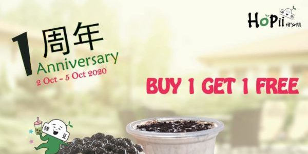 Hopii Singapore 1st Anniversary Buy 1 Get 1 FREE Promotion 2-5 Oct 2020