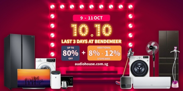 Last 3 Days Electronics Sale at Audio House Bendemeer, Up to 80% OFF + Additional 8%-12% Storewide Discount
