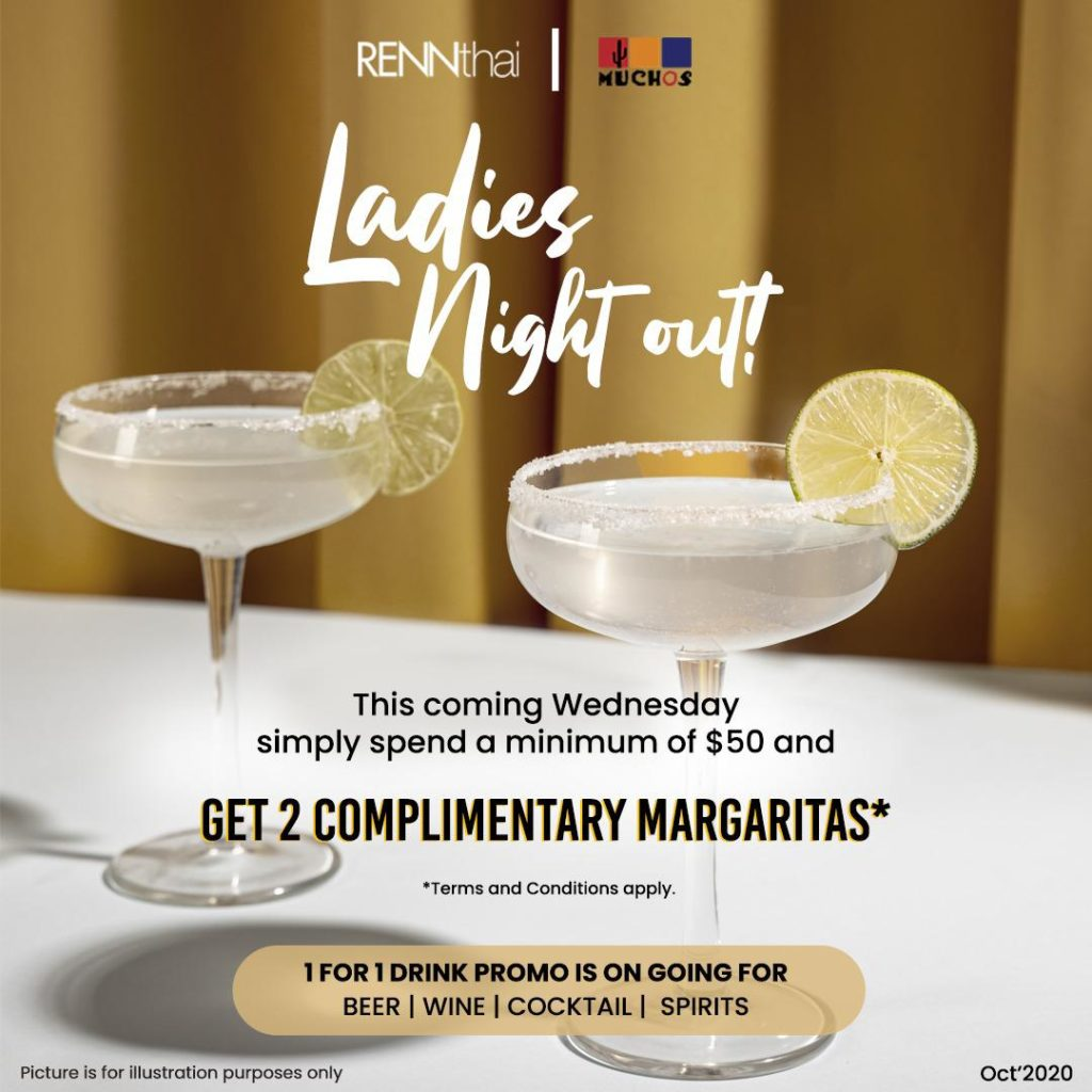 Enjoy 1 FOR 1 & Complimentary Margaritas at Muchos & RENNthai, Clarke Quay! | Why Not Deals