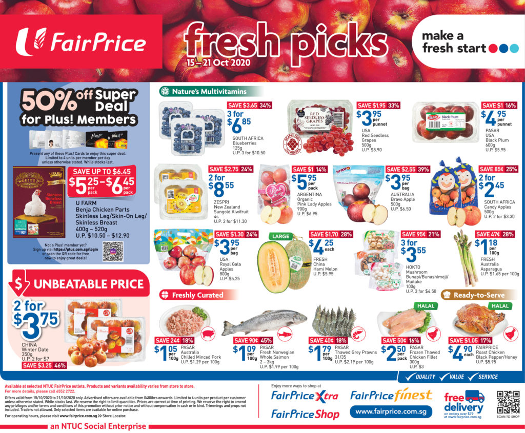 NTUC FairPrice Singapore Your Weekly Saver Promotion 15-21 Oct 2020 | Why Not Deals 5