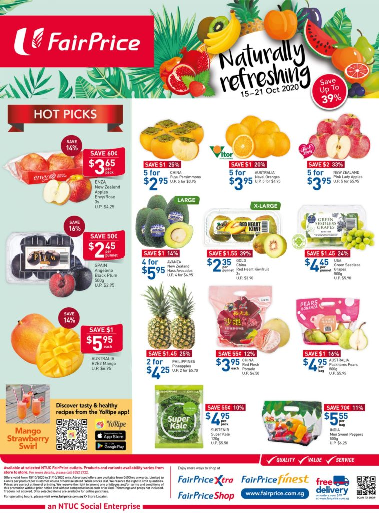 NTUC FairPrice Singapore Your Weekly Saver Promotion 15-21 Oct 2020 | Why Not Deals 6