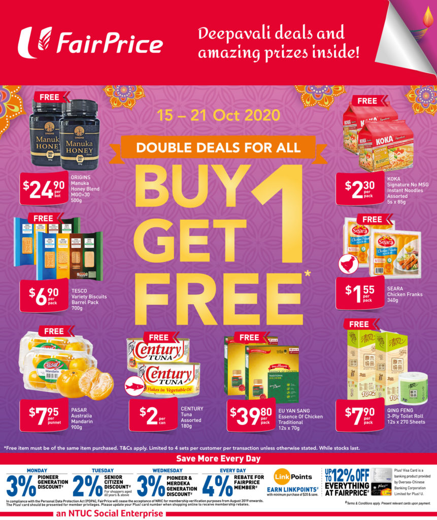 NTUC FairPrice Singapore Your Weekly Saver Promotion 15-21 Oct 2020 | Why Not Deals 7