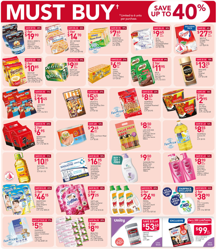NTUC FairPrice Singapore Your Weekly Saver Promotion 15-21 Oct 2020 | Why Not Deals