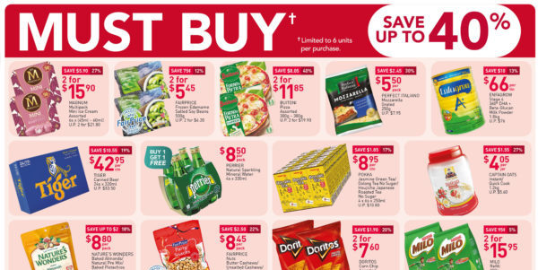 NTUC FairPrice Singapore Your Weekly Saver Promotions 1-7 Oct 2020