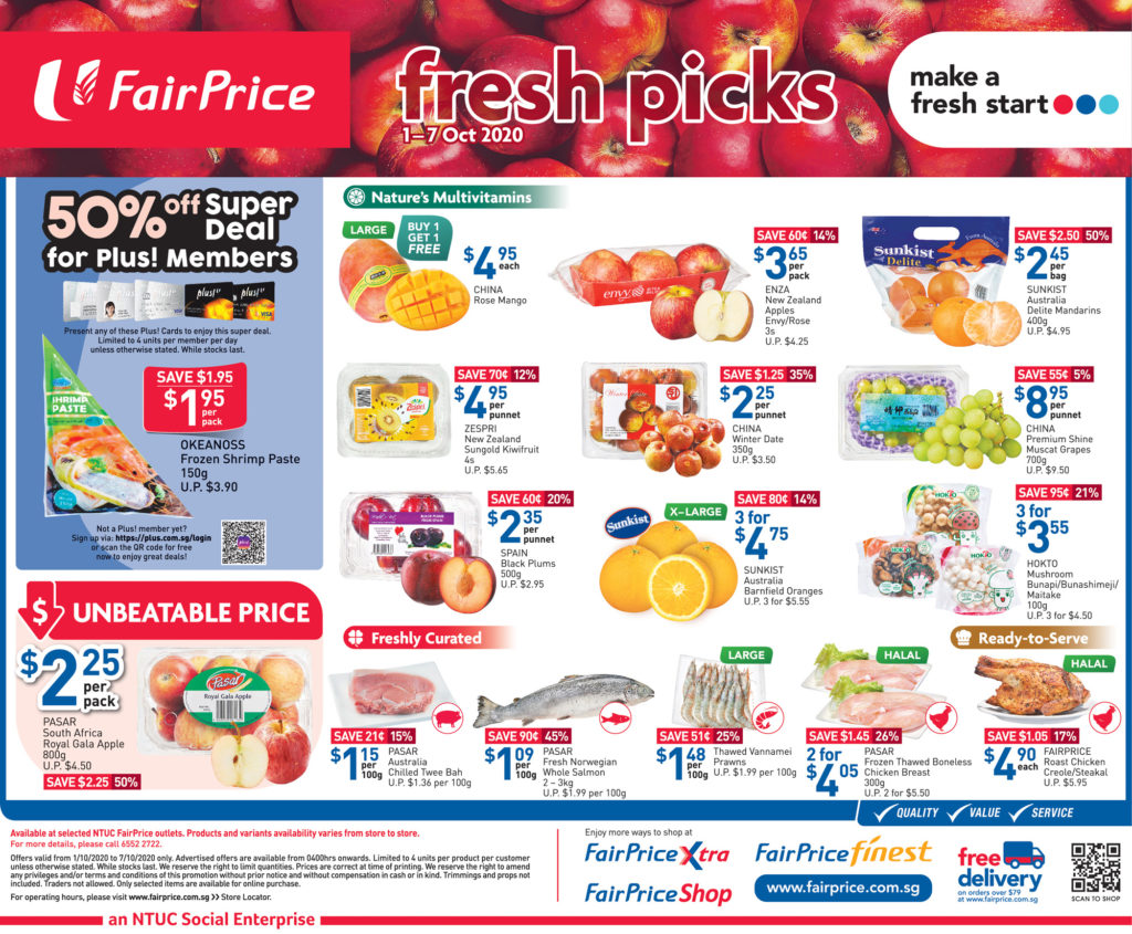 NTUC FairPrice Singapore Your Weekly Saver Promotions 1-7 Oct 2020 | Why Not Deals 5