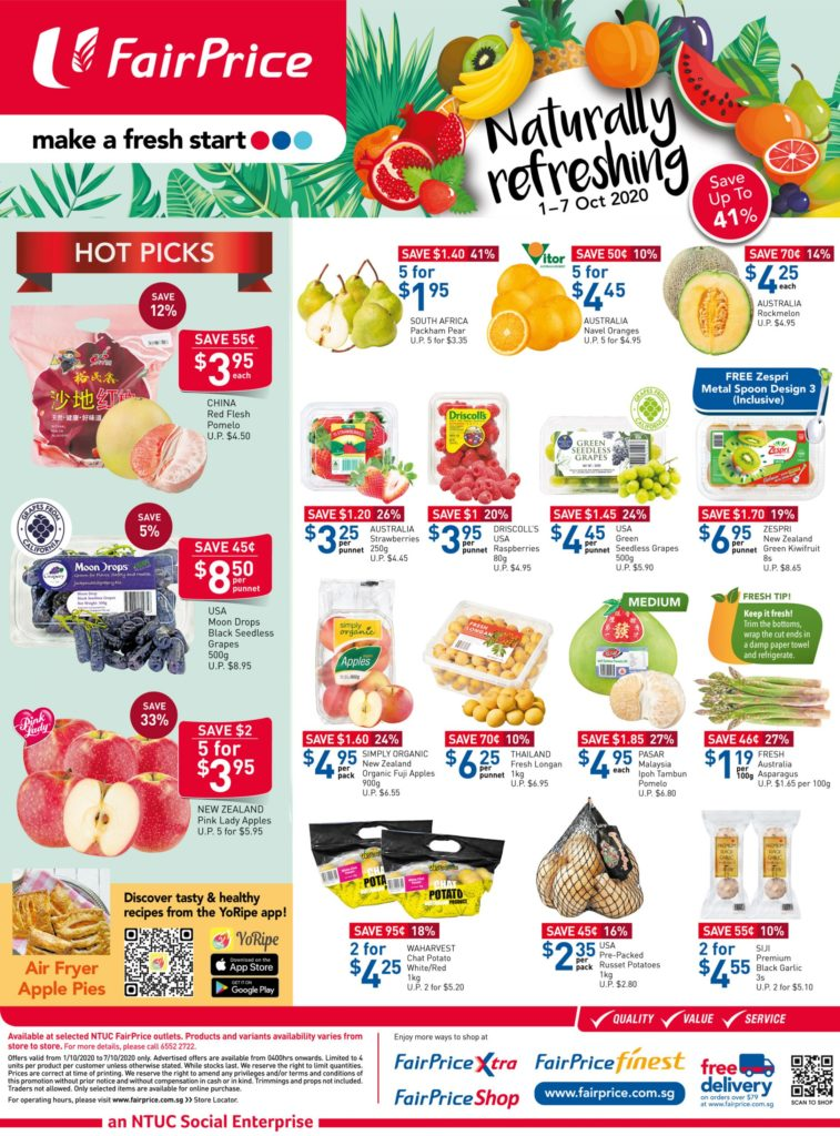 NTUC FairPrice Singapore Your Weekly Saver Promotions 1-7 Oct 2020 | Why Not Deals 6