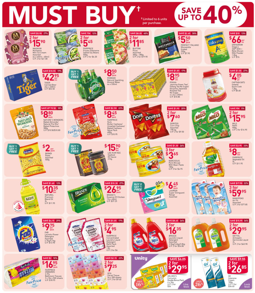 NTUC FairPrice Singapore Your Weekly Saver Promotions 1-7 Oct 2020 | Why Not Deals