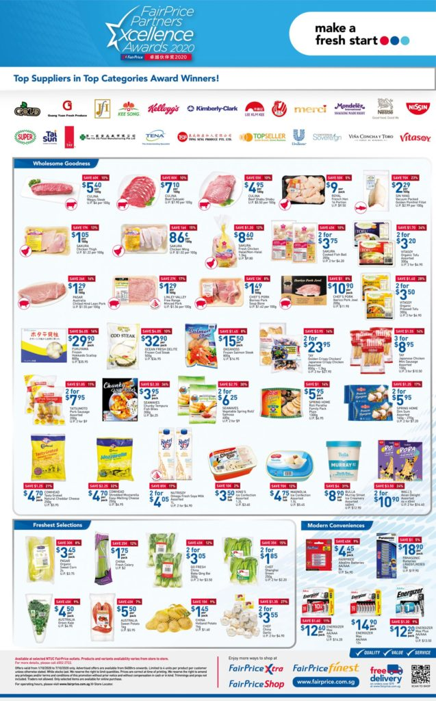 NTUC FairPrice Singapore Your Weekly Saver Promotions 1-7 Oct 2020 | Why Not Deals 7
