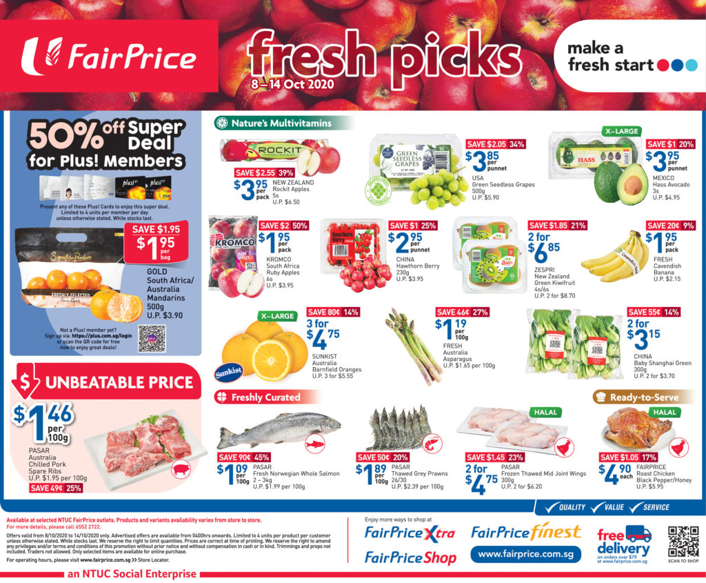 NTUC FairPrice Singapore Your Weekly Saver Promotions 8-14 Oct 2020   Why Not Deals 5