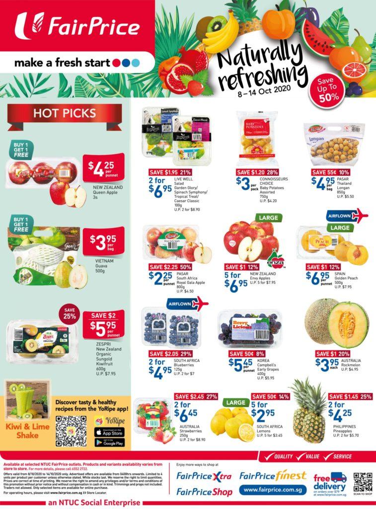 NTUC FairPrice Singapore Your Weekly Saver Promotions 8-14 Oct 2020   Why Not Deals 6