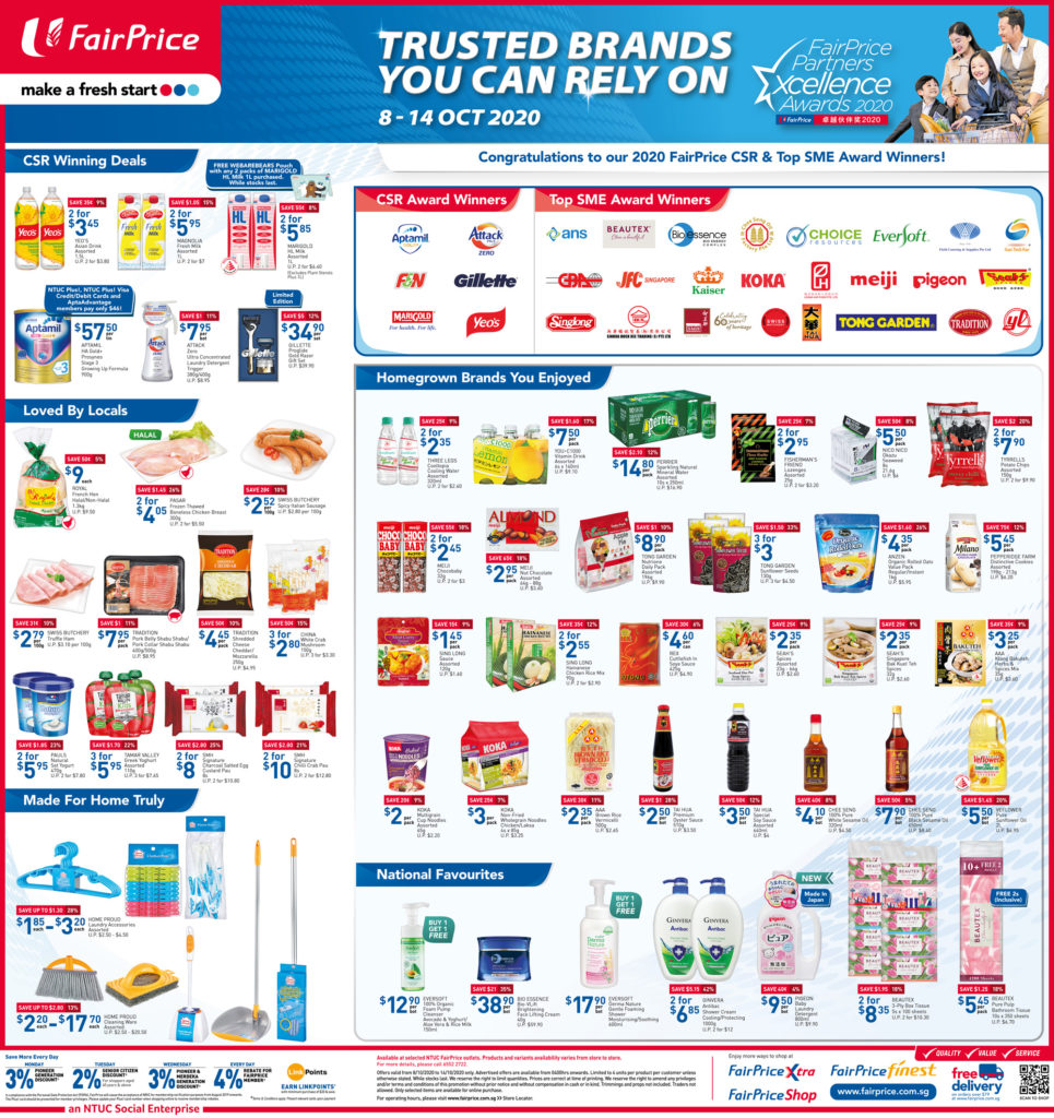 NTUC FairPrice Singapore Your Weekly Saver Promotions 8-14 Oct 2020   Why Not Deals 7
