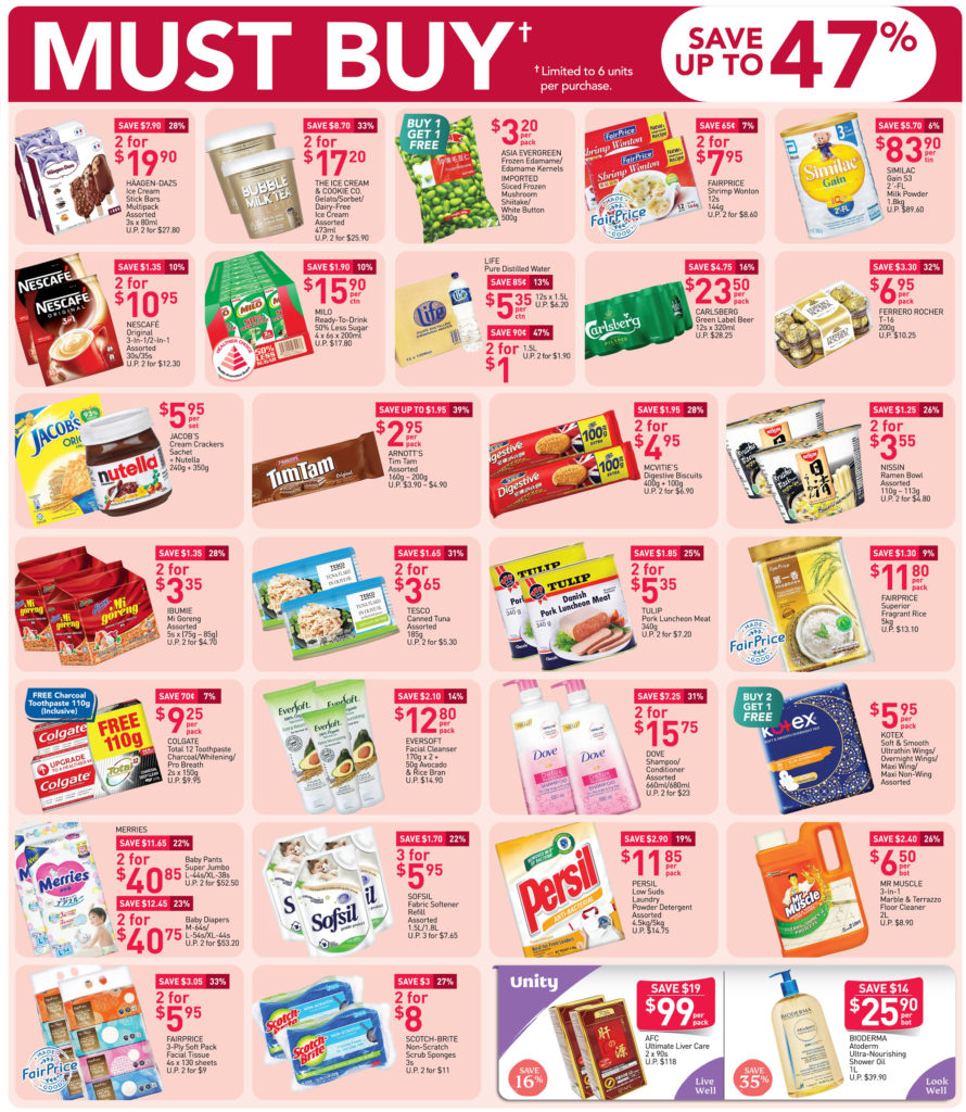 NTUC FairPrice Singapore Your Weekly Saver Promotions 8-14 Oct 2020   Why Not Deals