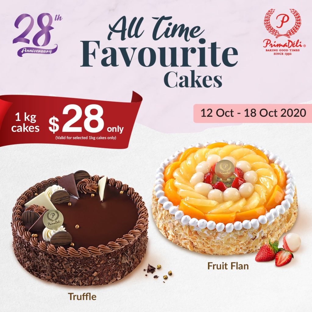PrimaDeli Singapore All Time Favourite Cakes 1kg Cakes at $28 Promotion 12-18 Oct 2020 | Why Not Deals