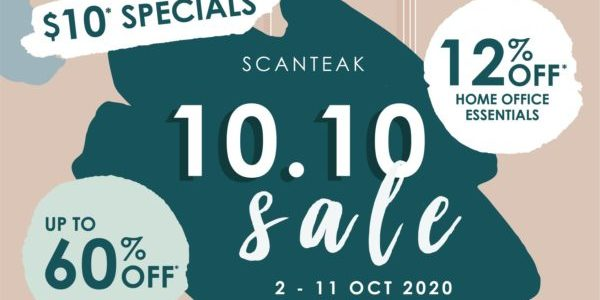 Scanteak Singapore 10.10 Sale Up To 60% Off Promotion 2-11 Oct 2020