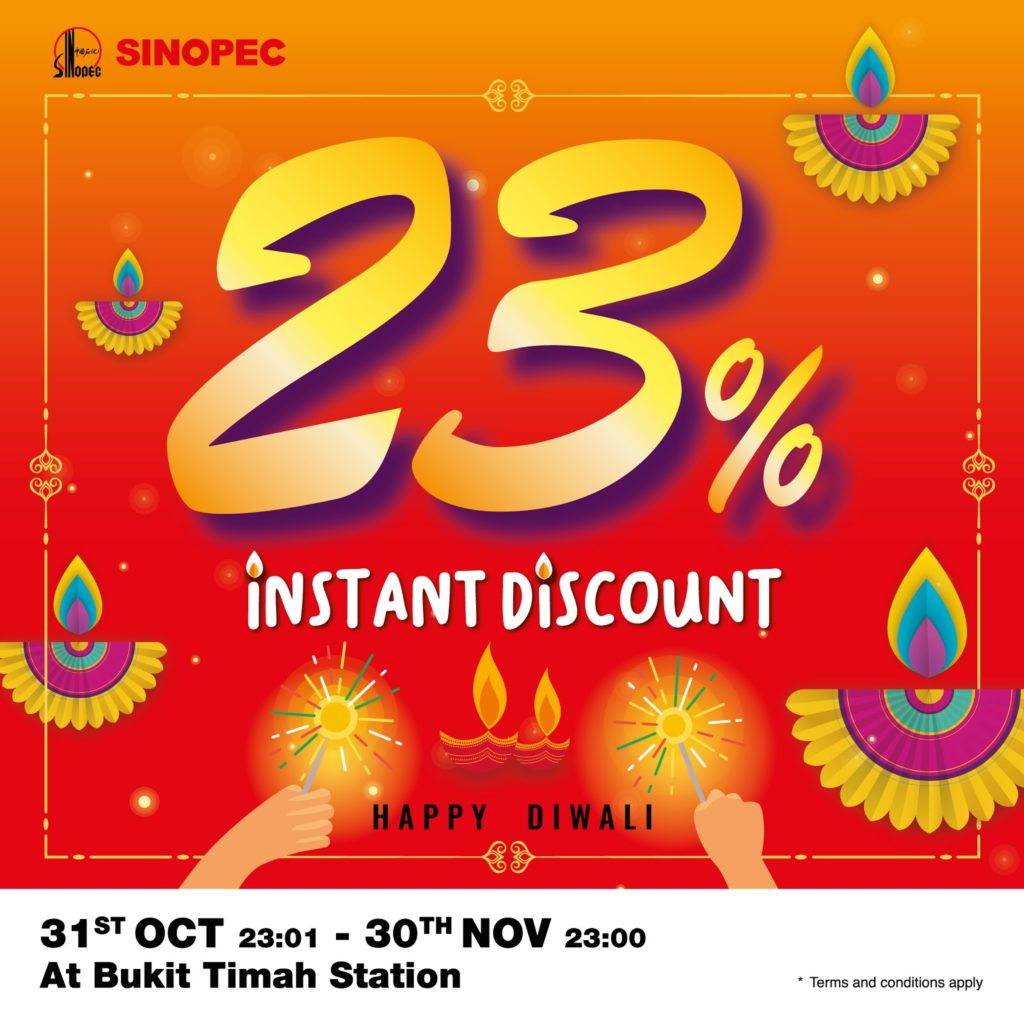 Sinopec Singapore Bukit Timah Station 23% Instant Discount 31 Oct - 30 Nov 2020 | Why Not Deals 1