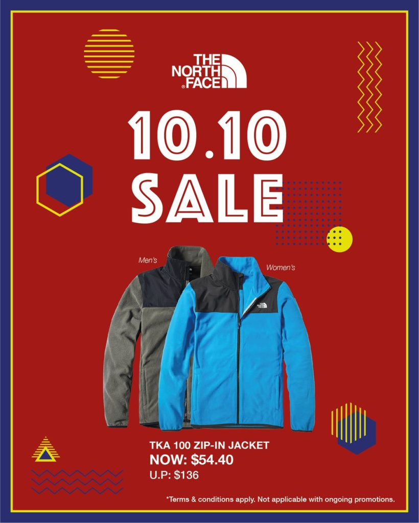 The North Face Singapore 10.10 Exclusive Up To 60% Off Promotion ends 25 Oct 2020 | Why Not Deals 1