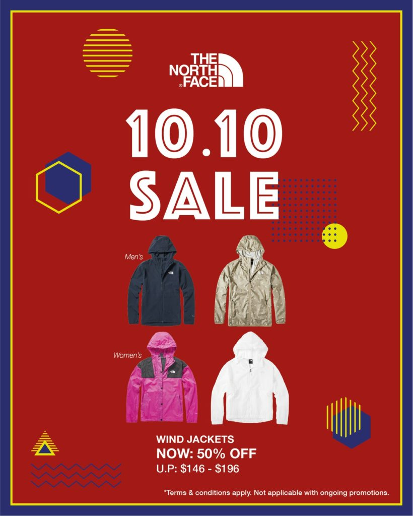 The North Face Singapore 10.10 Exclusive Up To 60% Off Promotion ends 25 Oct 2020 | Why Not Deals 2