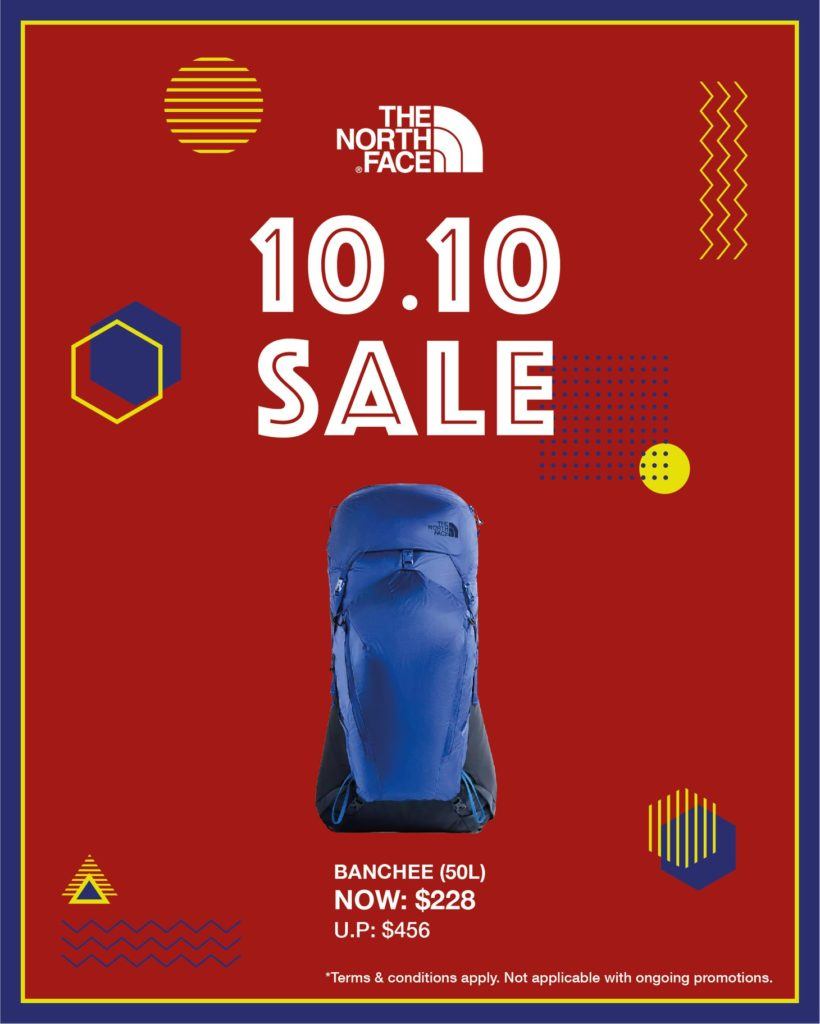 The North Face Singapore 10.10 Exclusive Up To 60% Off Promotion ends 25 Oct 2020 | Why Not Deals 4