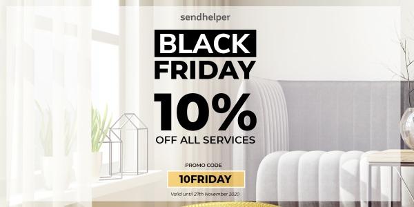 sendhelper Singapore 10% Off Any Service Black Friday Promotion ends 27 Nov 2020