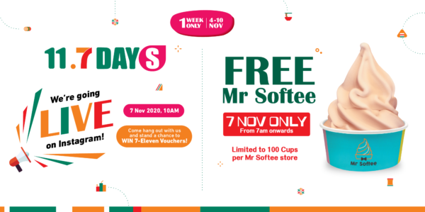 7-Eleven Singapore 11.7 Day Up To 30% Off Promotion Only On 7 Nov 2020