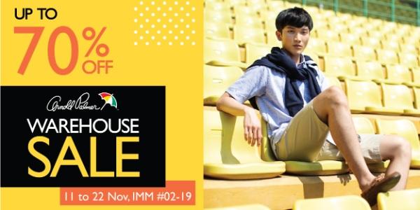 Arnold Palmer Warehouse Sale, 11-22 Nov 2020, up to 70% OFF!