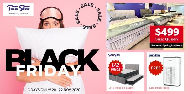 Four Star Mattress Black Friday Sale Has Queen Mattresses at $499 (20 – 22 November 2020)