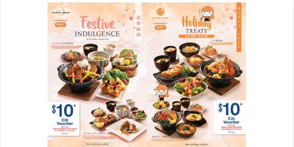 Ichiban Boshi & Ichiban Sushi's New Limited-Time Only 7-course Festive Sets, $10 Dining Voucher for