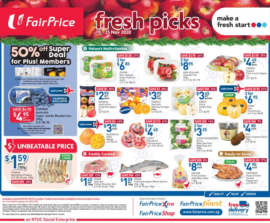 NTUC FairPrice Singapore Your Weekly Saver Promotion 19-25 Nov 2020 | Why Not Deals 1