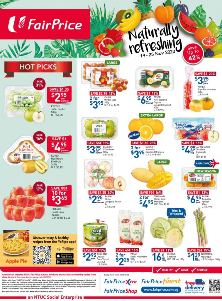 NTUC FairPrice Singapore Your Weekly Saver Promotion 19-25 Nov 2020 | Why Not Deals 2