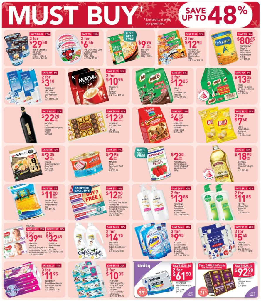 NTUC FairPrice Singapore Your Weekly Saver Promotion 19-25 Nov 2020 | Why Not Deals